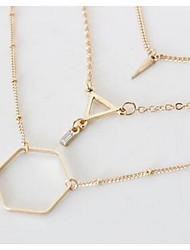 Women's Chain Necklaces Jewelry Gem Fashion Euramerican Gold Jewelry For Party Thank You Gift Daily 1set