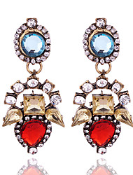 Crystal Geometric Drop Earrings Jewelry Geometric Party Daily Casual Crystal Alloy 1 pair Multi Color