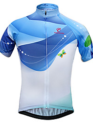 JESOCYCLING®Women's Short Sleeve Cycling Jersey Breathable Spring And Summer Bike Jersey