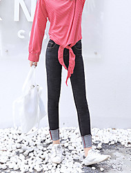 signer la version coréenne de la nouvelle taille élastique sauvages jean slim pieds féminins pantalon crayon poignets