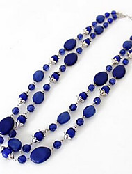 Women's Pendant Necklaces Statement Necklaces Imitation Sapphire Gem Fashion Euramerican Jewelry For Party Special Occasion Birthday Gift