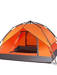 3-4 Pessoas Tenda Um Quarto Barraca de acampamentoCampismo-Verde Laranja Azul Real Azul Céu