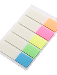 Five kinds of color fluorescent transparent film labelCan be used repeatedly not easy to tear