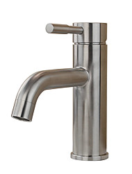 Contemporary Traditional Standard Spout Centerset Widespread with  Ceramic Valve Single Handle One Hole for  Stainless Steel , Bathroom
