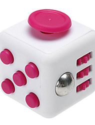 Anxiety Reliever Fidget Dice Cubic Cube Fidget Toys for Focusing / Stress Relieving ABS --White &  Rose