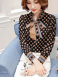 Women's Casual/Daily Formal Work Vintage Street chic Blouse,Floral V Neck Long Sleeve Polyester