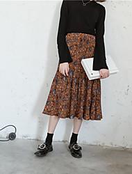 Signe printemps paragraphe sauvage élastique fausse jupe flippée jupe jupe parapluie jupe étudiant