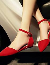 Women's Sandals Slingback PU Summer Casual Slingback Low Heel Ruby 1in-1 3/4in