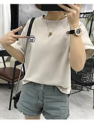 Assina a camisa de seda selvagem nova do t-shirt do leite doce do estudante 2017 da camisa