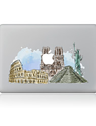 1 pièce Anti-Rayures Paysage En Plastique Transparent Décalcomanie Motif PourMacBook Pro 15'' with Retina MacBook Pro 15 '' MacBook Pro