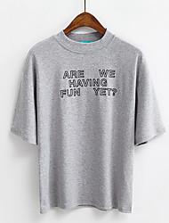 Zeichen koreanische Buchstaben gedruckt lose kurz-sleeved T-Shirt Frühling lässig Frauen&# 39; s Hemd weibliches T-Shirt