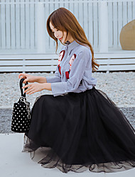 2017 femmes signer nouvelle chemise à manches longues tempérament femme costume mode loisirs un mot tutu