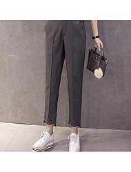 подписать брюки 2017 весной и летом до и после новой части неравной упругой талии корейской версии случайных брюки прилива