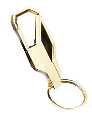 Key Chain Circular Key Chain Black Gold Metal