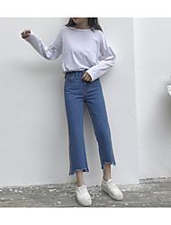знак весной 2017 джинсы джинсы колготок цветного заклятия боковых полос