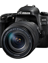 Canon® EOS 77D EF-S 18-135mm f/3.5-5.6 IS USM  SLR Digital Camera 1080P NFC WiFi Tiltable LCD Black 3.0