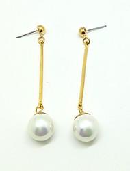 Boucles d'oreille goutte Boucles d'oreilles Alliage Imitation de perle Original Pendant Mode Or Bijoux Mariage Soirée 1 paire