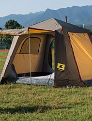 3-4 Personen Doppel Einzimmer Camping ZeltWandern Camping Reisen-Grau