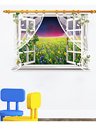 The Night Under The Window Screen Scenery Sitting Room Bedroom Home Decoration Wall Stickers