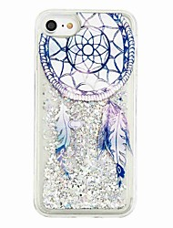 For iPhone X iPhone 8 Case Cover Flowing Liquid Pattern Back Cover Case Glitter Shine Dream Catcher Soft TPU for Apple iPhone X iPhone 8
