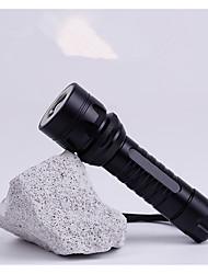 Lampes de poche Lumens Mode Cree T6 18650 AAA Faisceau Ajustable RechargeableCamping/Randonnée/Spéléologie Usage quotidien Cyclisme