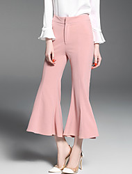 Really making 2017 summer new European and American women's pink waist Cropped pants thin wild Slim pants