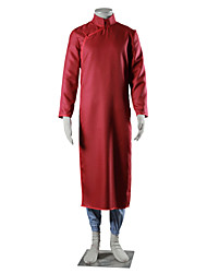 Inspired by Naruto Gaara Anime Cosplay Costumes Cosplay Suits Solid Red Blue Long Sleeve Cheongsam Pants For