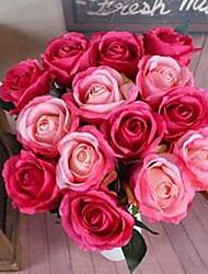 1 Филиал Волокно Розы Букеты на стол Искусственные Цветы 10*10*62