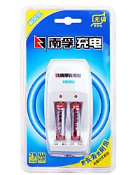 Nanfu aaa níquel metal hidreto bateria recarregável 1.2v 900mah 2 pack