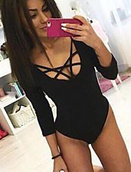 Europe AliExpress / Ebay sexy tight bandage sleeve sexy women's underwear Siamese