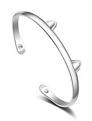 Manchettes Bracelets Plaqué argent Autres Fait à la main Bijoux 1pc Argent