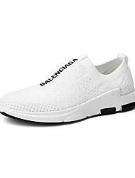 Da donna-Sneakers-Tempo libero Casual Sportivo-pattini delle coppie Comoda-Piatto-Tulle-Bianco Nero