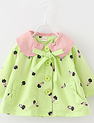 Children's Casual/Daily Solid Trench Coat,Cotton Spring Long Sleeve