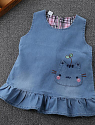 Girl's Casual/Daily School Solid Dress Summer Spring Sleeveless
