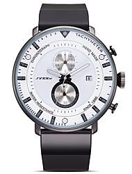 Men's Sport Watch Fashion Watch Japanese Quartz Silicone Band Black