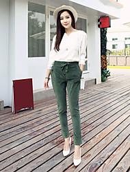 Signer des femmes hitz&# Pantalons en velours côtelé pantalons taille harem pantalons décontractés pantalons