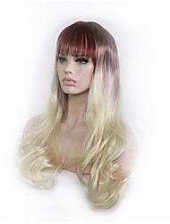 Cosplay Wag 28 Inch Golden Gradient Curly Hair Wigs