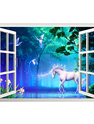 Wall Stickers Wall Decals Style Forest Horse PVC Wall Stickers
