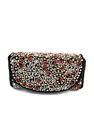 Women Popular Gold Beaded Clutches Evening on Hand