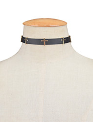 Women's Choker Necklaces Jewelry Alloy Leather Cross Euramerican Vintage Personalized Cross Jewelry Party Special Occasion Daily Casual