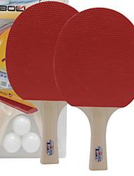 Ping Pang/Tabela raquetes de tênis Ping Pang/Bola de Ténis de Mesa Ping Pang Cortiça Cabo Comprido Espinhas2 Raquete 3 Bolas para Tênis