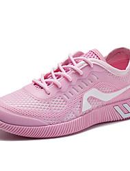 Femme-Extérieure Bureau & Travail Décontracté-Blanc Noir Vert Rose-Talon Plat-Confort-Chaussures d'Athlétisme-Tulle Polyuréthane