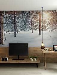 Art Deco 3D Wallpaper For Home Contemporary Wall Covering  Canvas Material Adhesive required Mural Morning Snow Forest Snow XXXL(448cm*280cm)