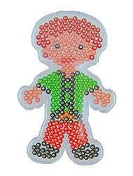 1pcs modèle perles Perler clairement panneau perforé homme modèle père de papa pour perles hama 5mm perles fusibles