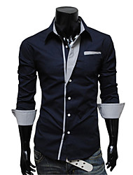 Men's Fashion Casual Striped Long-Sleeved Shirt