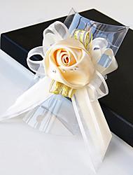 Свадебные цветы В свободной форме Розы Букетик на запястье Свадьба Партия / Вечерняя Атлас