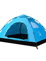 2 Pessoas Tenda Um Quarto Barraca de acampamento Bem Ventilado-Campismo-Vermelho Laranja