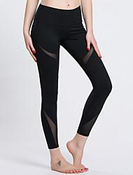 Mulheres Calças de Corrida Secagem Rápida Anti-Irradiação Respirável Compressão Redutor de Suor Meia-calça para Ioga Exercício e