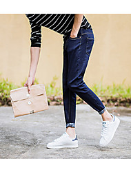 2017 printemps et collants denim bleu été minimaliste jeunes hommes pieds 9 pantalon mince vague coréenne
