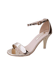 Women's Heels Spring Summer Comfort Ankle Strap Light Soles Patent Leather Outdoor Party & Evening Dress Stiletto Heel Walking Shoes